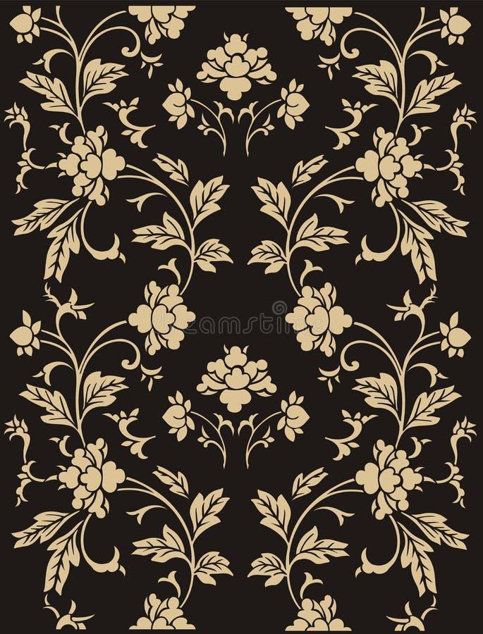 抽象花卉模式 皇族释放例证