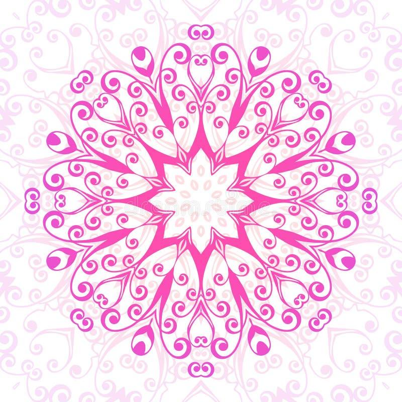 抽象花卉装饰背景 在东部样式的装饰品 也corel凹道例证向量 皇族释放例证