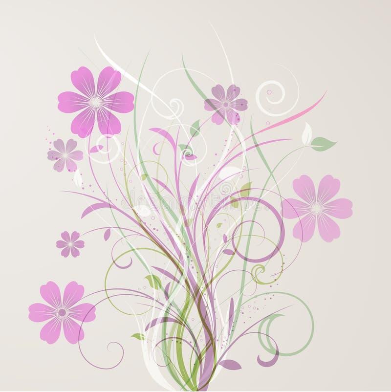 抽象花卉 库存例证