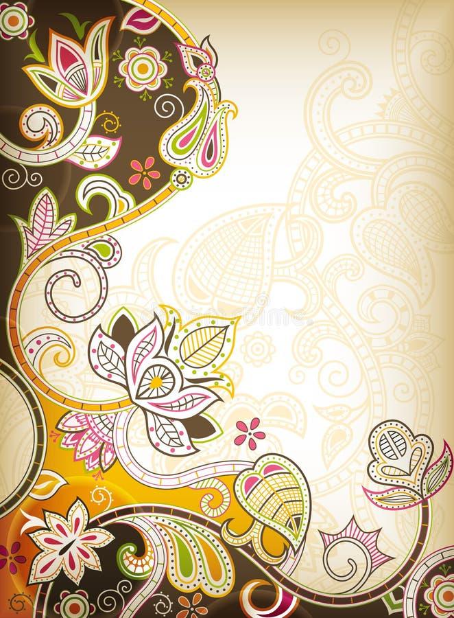 Download 抽象花卉 库存例证. 插画 包括有 聚会所, 典雅, 滚动, 东方, 漩涡, 背包, 花卉, 抽象, 设计 - 22352786