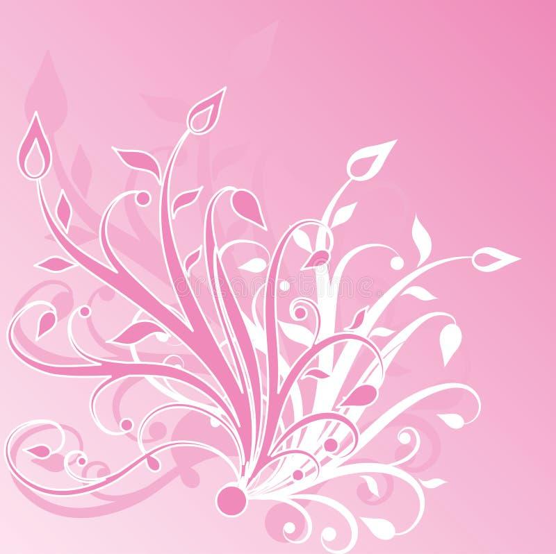 抽象花卉 向量例证