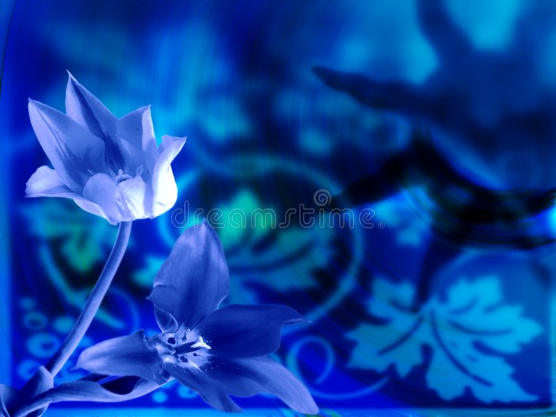 抽象花卉 皇族释放例证
