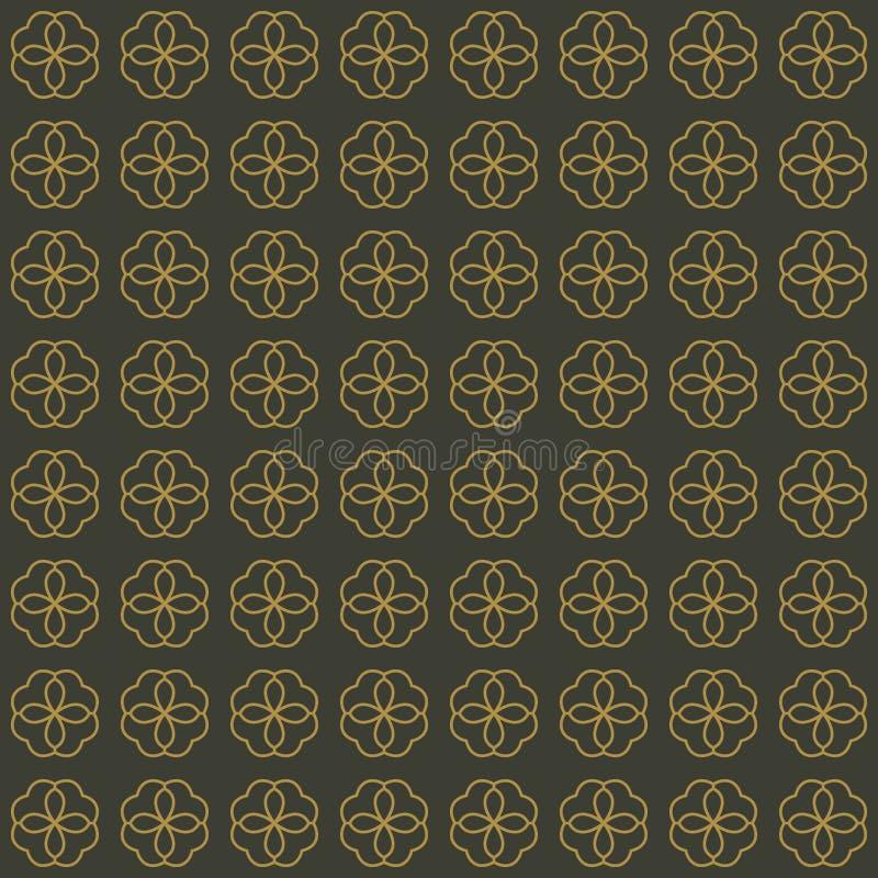 抽象花的传染媒介无缝的样式在典雅式样的 库存例证