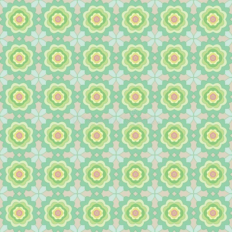 抽象花的无缝的样式 库存例证