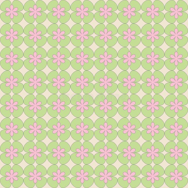 抽象花的无缝的样式 向量例证