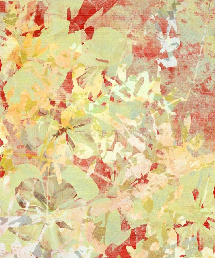 抽象花grunge印象主义者纸张 库存例证