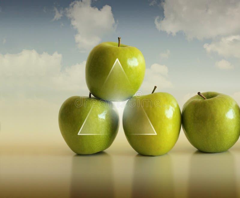 抽象苹果 免版税图库摄影