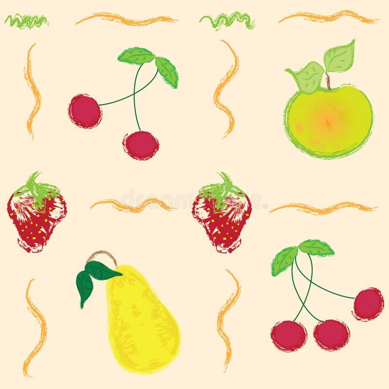 抽象莓果仿造无缝 向量例证