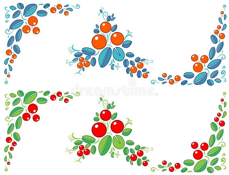 抽象莓果装饰元素 图库摄影