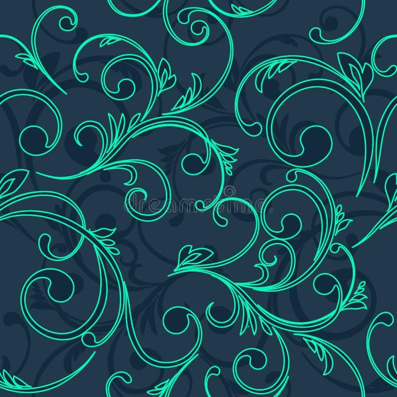 抽象葡萄酒无缝的锦缎样式 皇族释放例证