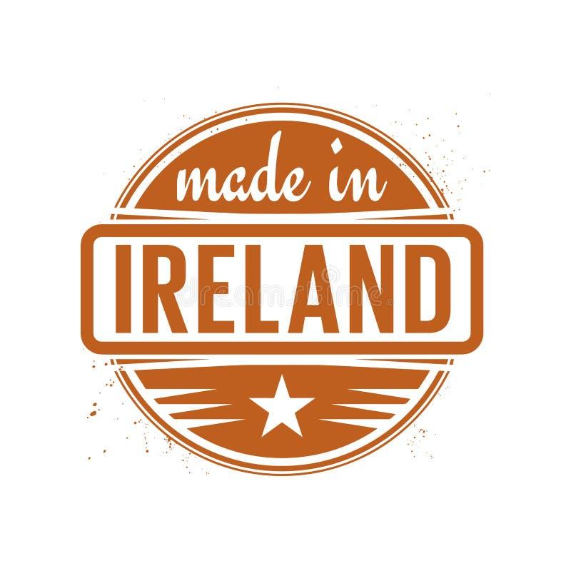 抽象葡萄酒邮票或封印有在爱尔兰制造的文本的 库存例证