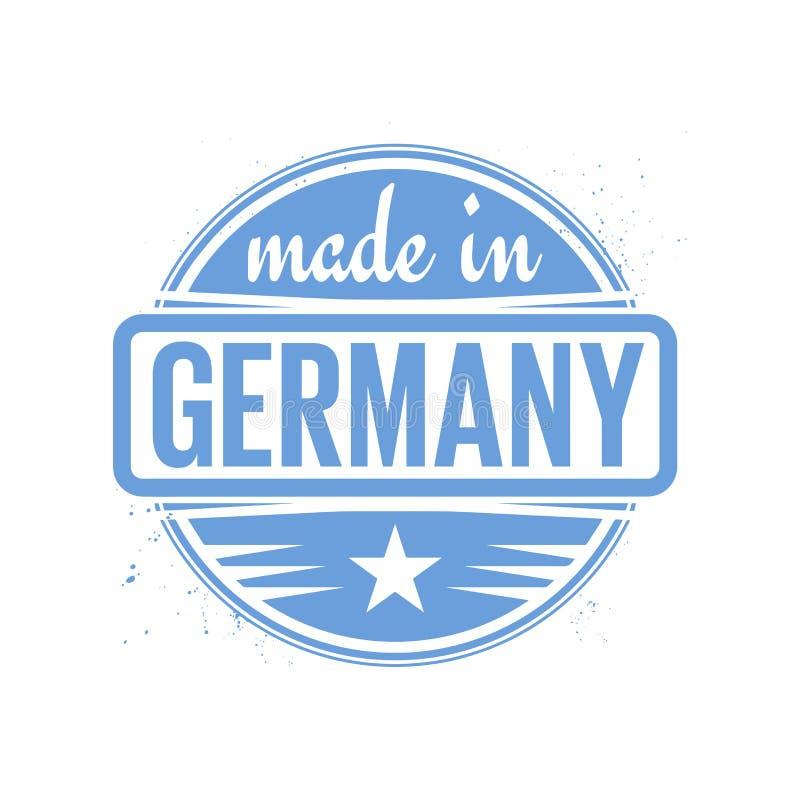 抽象葡萄酒邮票或封印有文本的德国制造 皇族释放例证