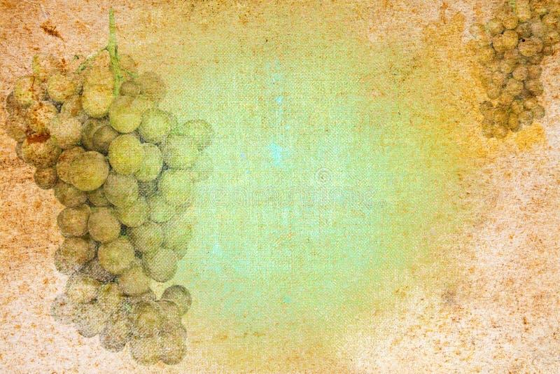 抽象葡萄motiv纸文教用品葡萄酒 库存例证