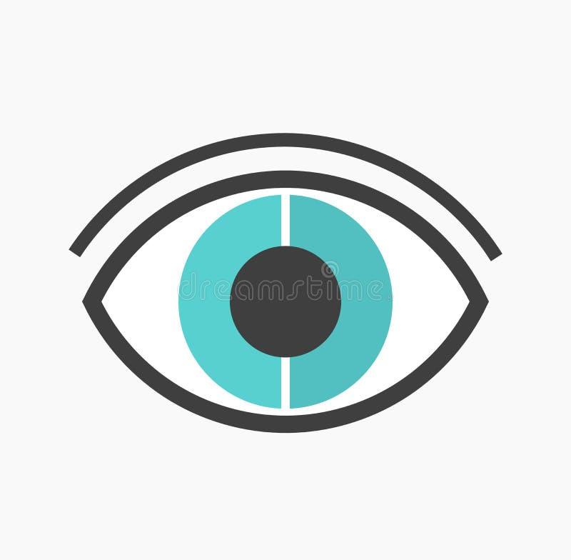 抽象蓝眼睛传染媒介 库存例证