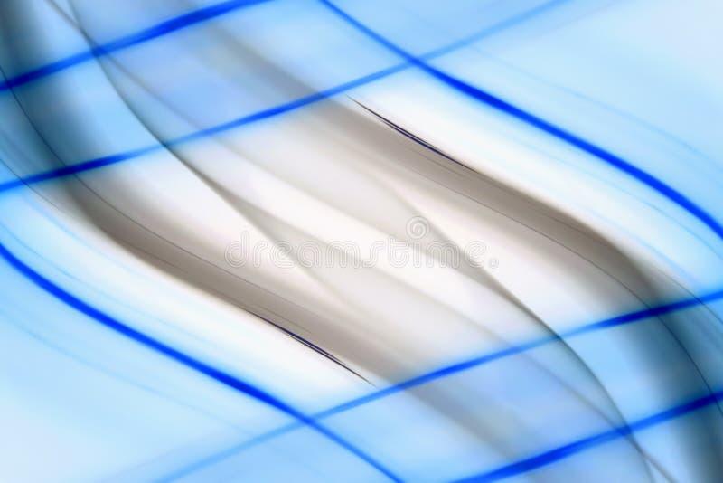 抽象蓝线 免版税库存照片