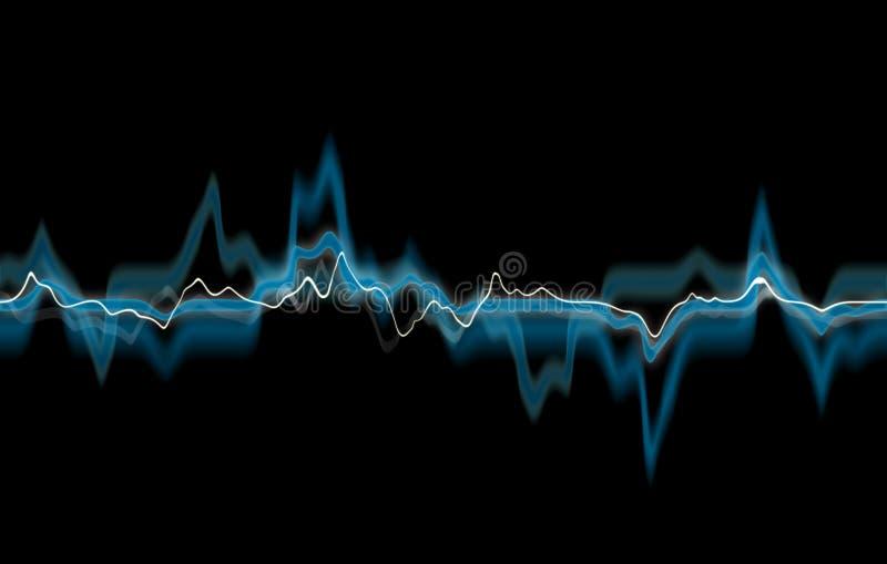 抽象蓝线 库存照片