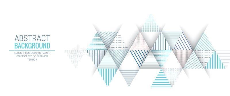 抽象蓝色三角线条纹样式背景 皇族释放例证