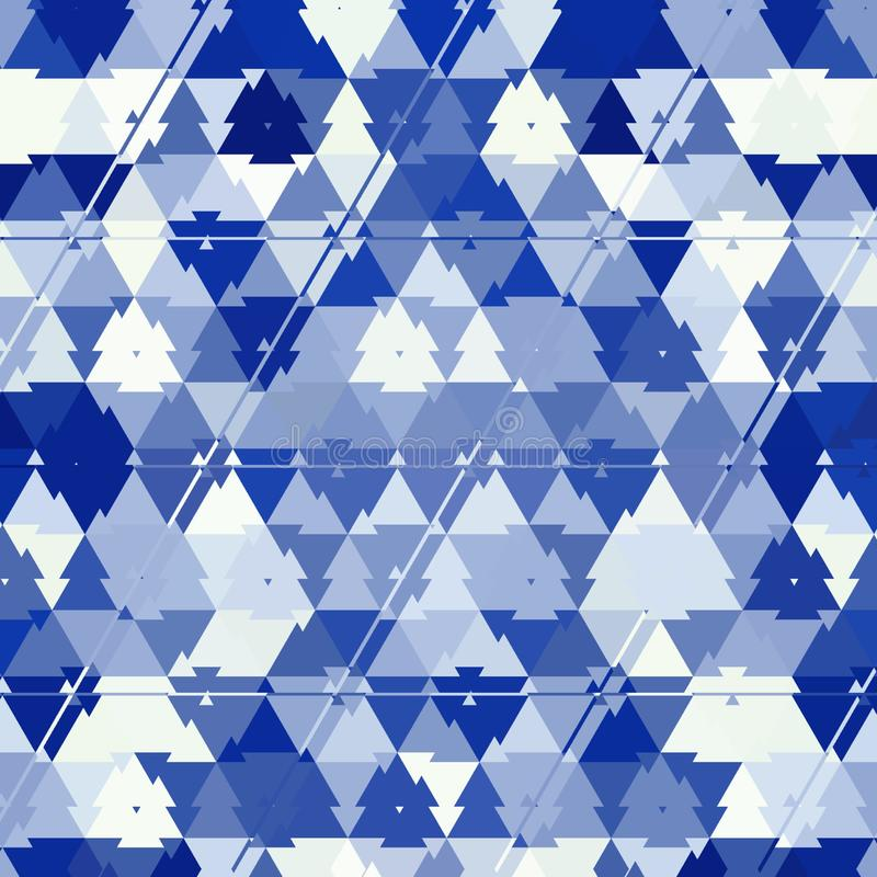 抽象蓝色与伪装作用的颜色多角形几何背景 皇族释放例证
