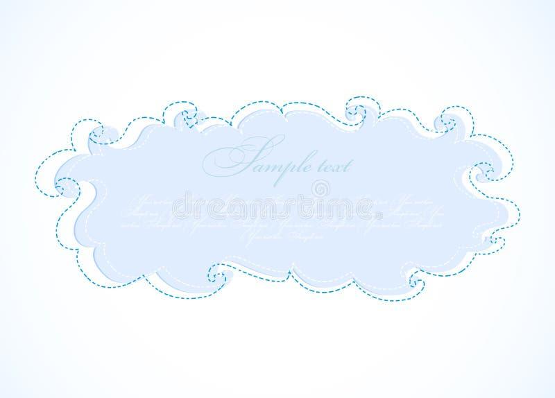 抽象蓝色云彩。 向量框架 皇族释放例证