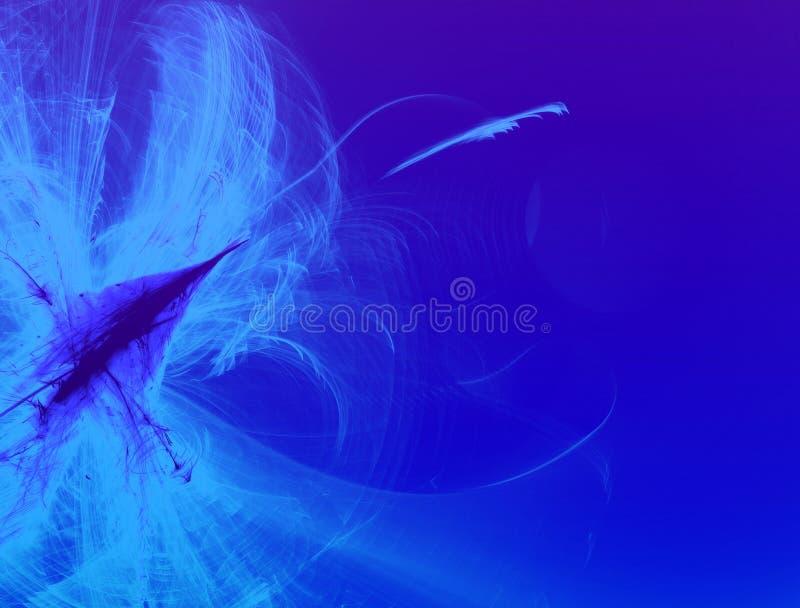抽象蓝色云彩落后背景 库存照片