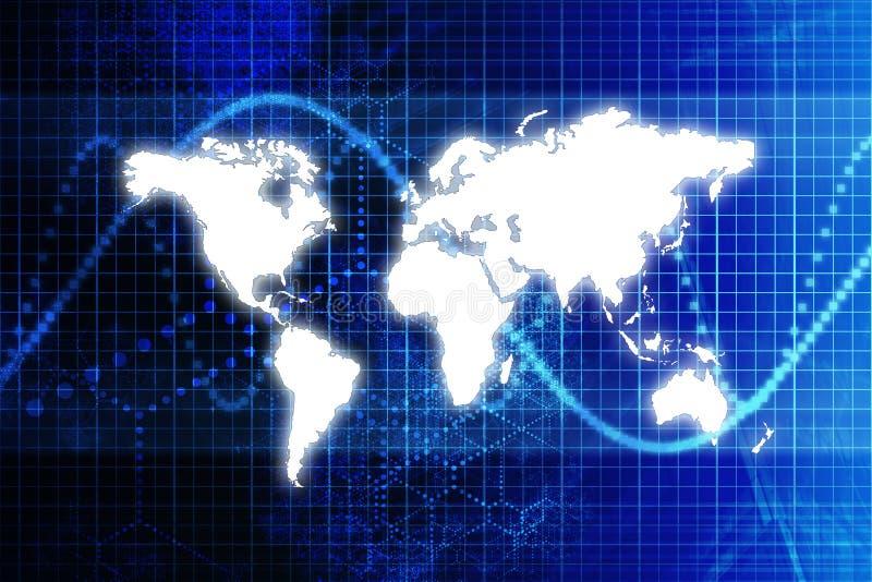 抽象蓝色企业数字式世界 向量例证