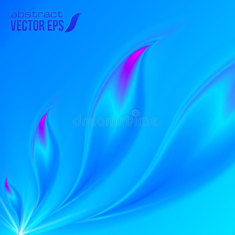 抽象蓝色传染媒介背景 皇族释放例证