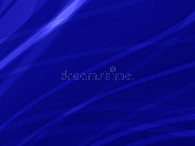抽象蓝色使转弯灯光管制线背景光滑 库存例证