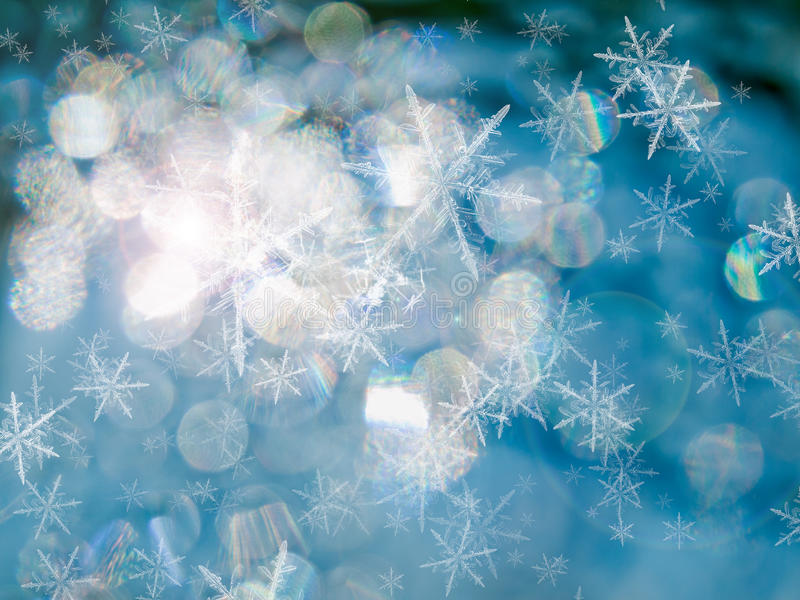 抽象蓝色冰 免版税库存照片