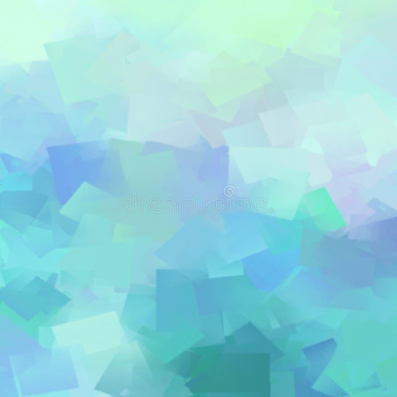 抽象蓝色冲程水彩背景 皇族释放例证