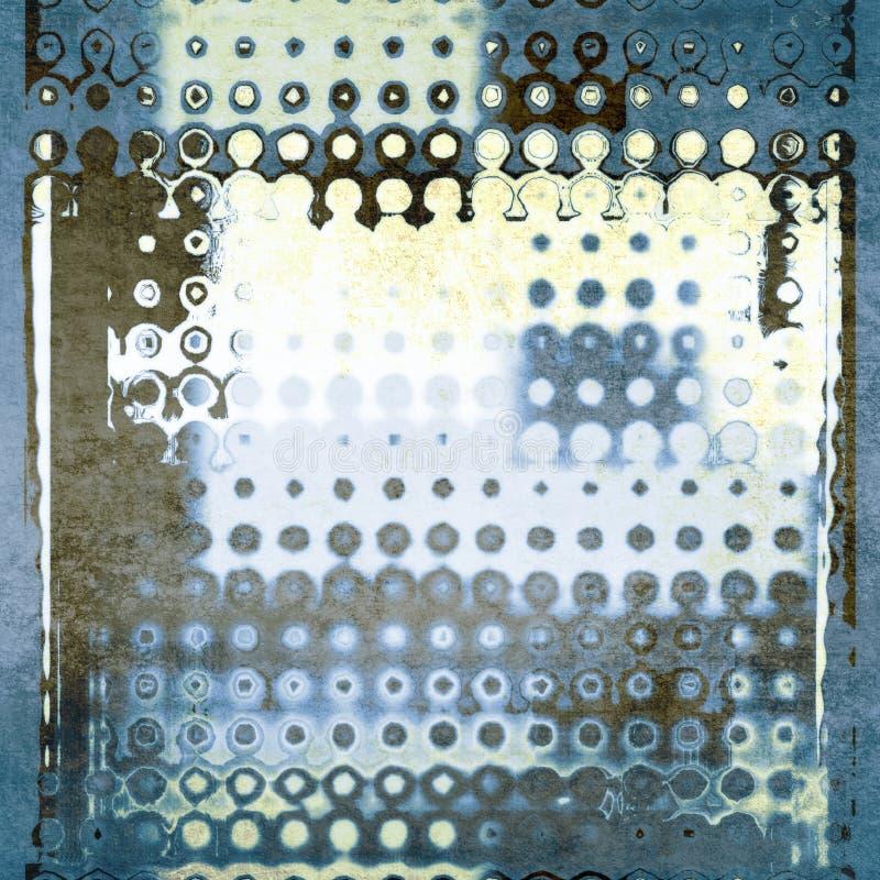 抽象蓝色几何光点图形背景 库存图片