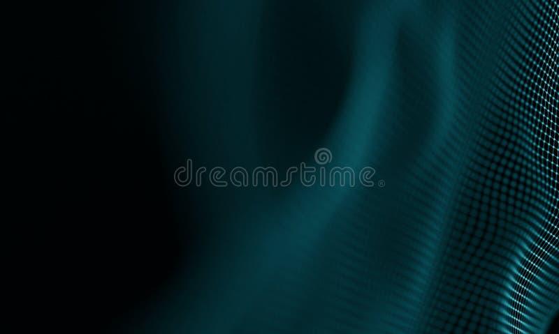 抽象蓝色几何背景 未来派技术样式 霓虹ny符号体育场美国人 未来派技术HUD元素 库存例证