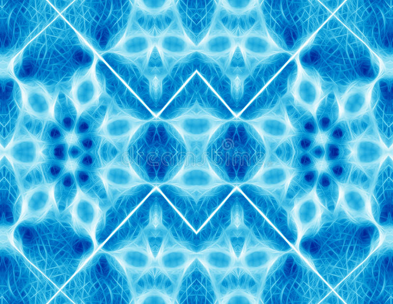 抽象蓝色几何背景 免版税库存图片