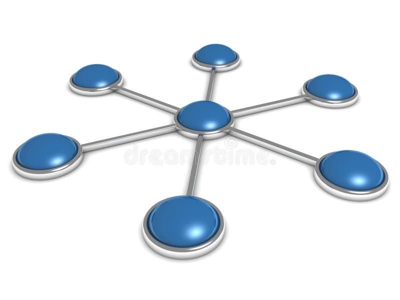 抽象蓝色分级网结构 皇族释放例证