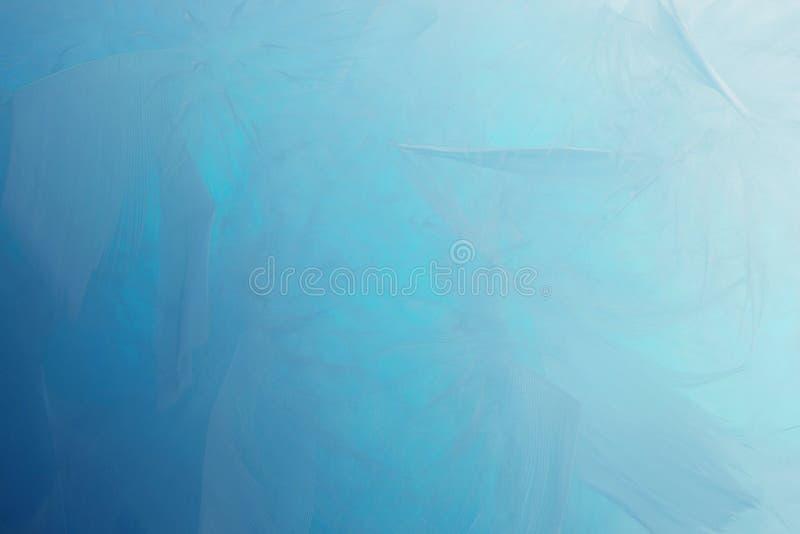 抽象蓝色口气羽毛背景 蓬松羽毛时尚设计葡萄酒漂泊样式柔和的淡色彩纹理 库存例证