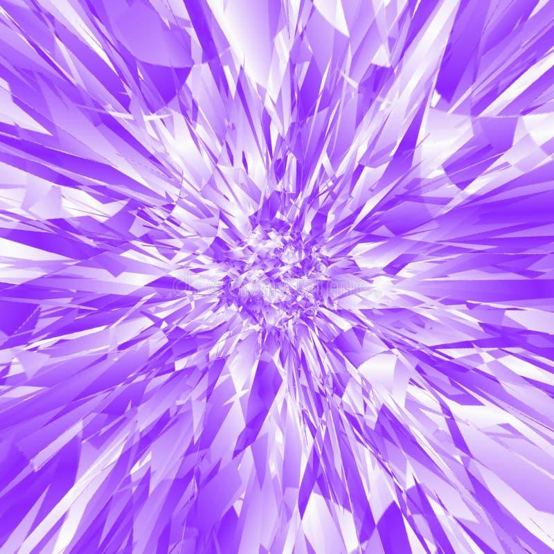 抽象蓝色和淡紫色爆炸样式 库存例证