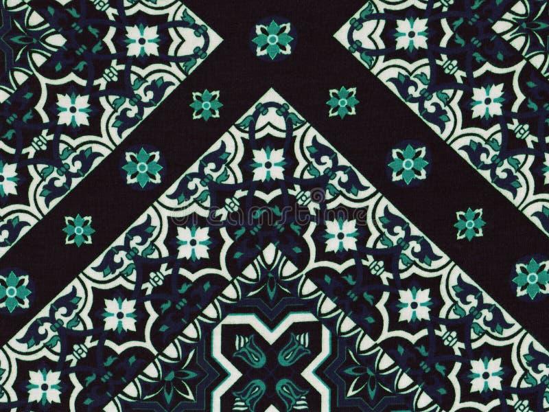 抽象蓝色和白色几何样式 图库摄影