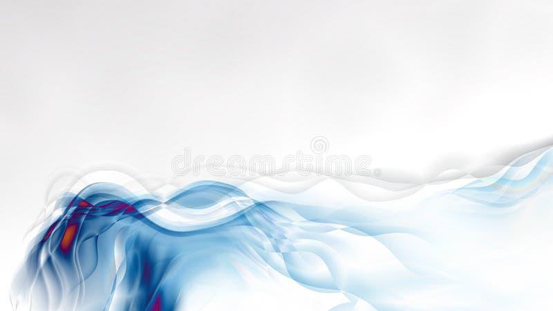 抽象蓝色和白色烟背景 皇族释放例证