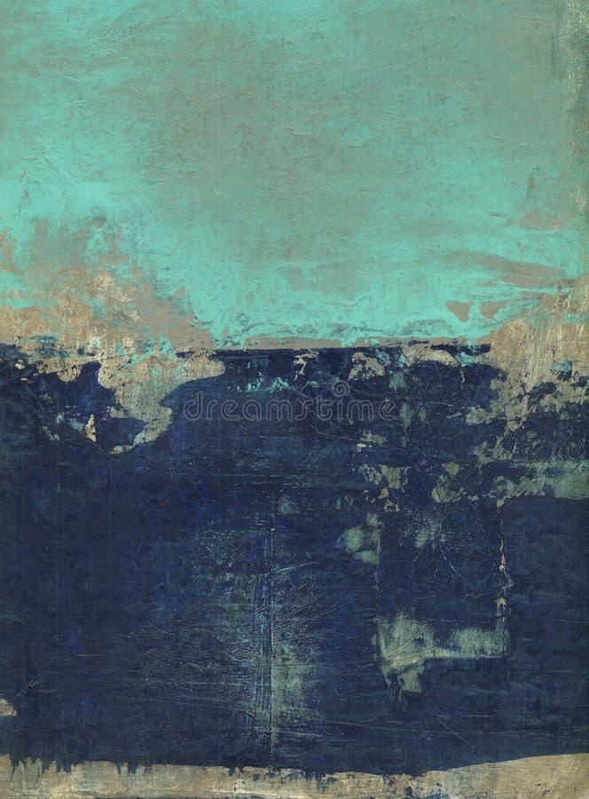 抽象蓝色和绿松石 向量例证