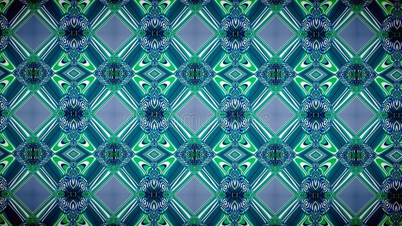 抽象蓝色和绿色专属颜色样式背景 免版税库存照片