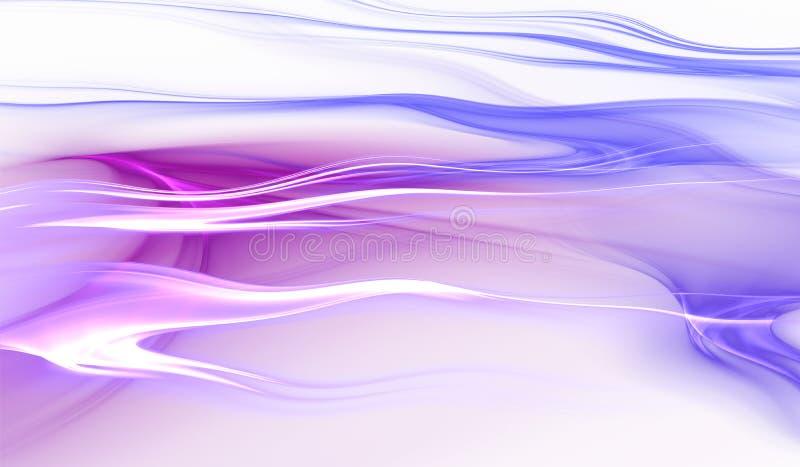 抽象蓝色和紫色颜色波浪背景 向量例证