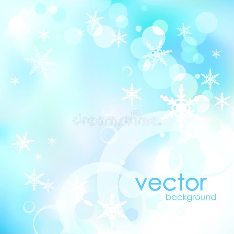 抽象蓝色圣诞节和新年传染媒介背景 库存照片