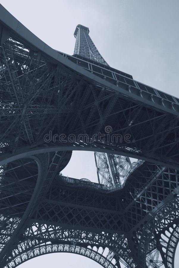 抽象蓝色埃佛尔铁塔 库存照片