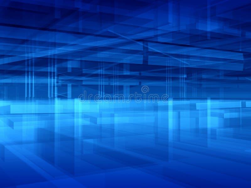 抽象蓝色大厅 库存例证