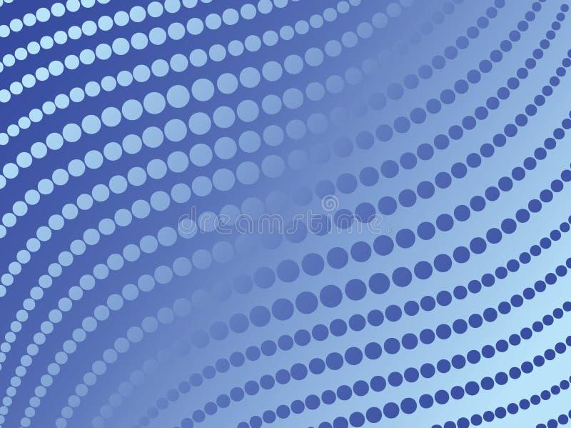 抽象蓝色小点向量 图库摄影