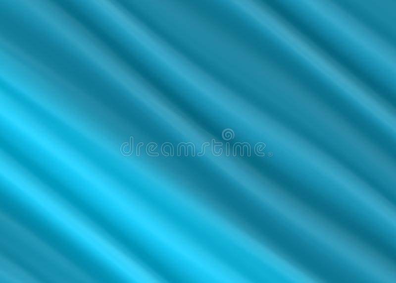抽象蓝色布料豪华波浪背景或背景 皇族释放例证