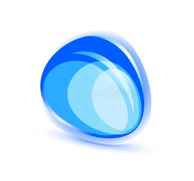 抽象蓝色形状 库存例证