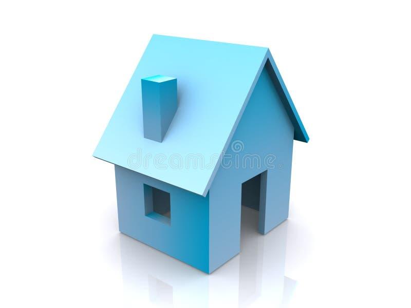 抽象蓝色房子 向量例证