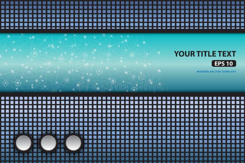 抽象蓝色技术传染媒介背景模板 向量例证