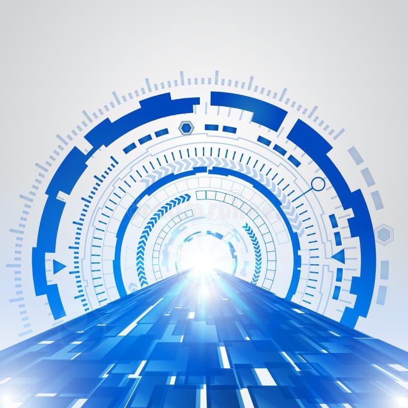 抽象蓝色技术新的未来概念背景 库存例证