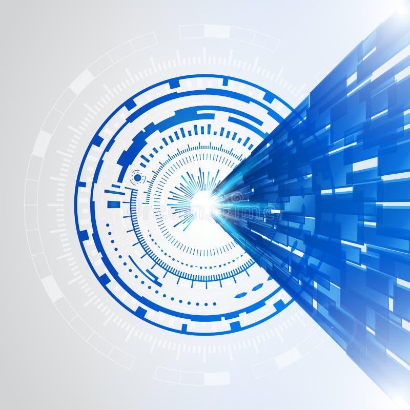 抽象蓝色技术新的未来概念背景 向量例证